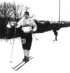 Holger Hägglöf fanns med som reserv i S:t Moritz 1948. Foto: Arkiv