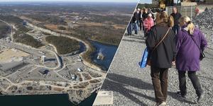 På lördag visas Norviks hamn som den kommer att se ut. Foto: Stockholms Hamnar (översiktsbilden); David Klasson (bilden på besökare i Norvik 2017)