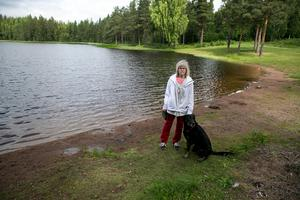 Det var här vid Dammyran som Inga-Lill Dahlborg upptäckte stenkastningen mot fåglarna.