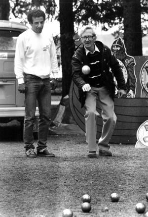 Det fanns stillsammare nöjen under Storsjöyran 1983 också, till exempel kunde man ta ett parti boule i Badhusparken.