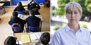 Montage. Eva-Britt Hartikainen är verksamhetschef för de kommunala grundskolorna i Söderhamn.