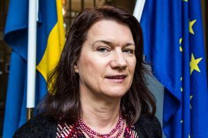 EU- och handelsminister Ann Linde (S) har en mycket liberal linje vad gäller globaliseringen, i skarp kontrast till MP och V. Foto: Lars Pehrson