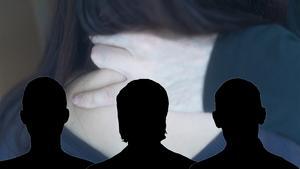 Två av de tre männen medger att de haft sex med kvinnan men menar att det skett frivilligt. Den tredje nekar helt.