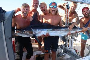 Fiskelycka på karibiskt vis. Foto: Privat
