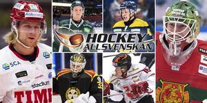 Sex spelare som av olika anledningar finns med på Hockeypuls lista. Foto: Bildbyrån/Kenta Jönsson.