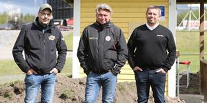 Roger Ytterberg, Mikael Teurnberg och Mattias Lund är tre av medlemmarna i den planeringsgrupp som har ansvaret för GP-tävlingen i Hallstavik.