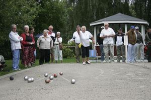Bouletävling blev det också på Bergsjödagen.