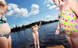 Badvattnet testas ett par gånger vid alla allmänna badplatser runt om i kommunen.FOTO: ANNIKA BJÖRNDOTTER