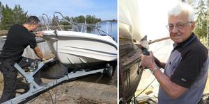 Full aktivitet i Hillevik inför den stundande båtsäsongen.