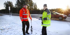 Anders Eriksson från E&K Trafiksäkerhet AB och Stefan Lindh från Trafikverket .