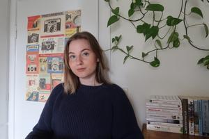Josefiné Josefsson publicerar inläst poesi på Instagramkontot ensamlingtexter. Foto: Matilda Bergman