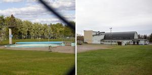 Storviksbadet och Parkhallen.