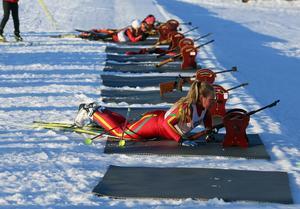 Ida Backén vann tjejklassen efter fullt skytte.