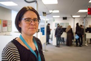 Kristina Hast, som är samordnare för Mötesplatser och Information.