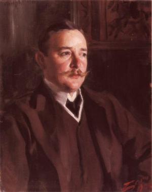 Erik Axel Karlfeldt. Målning av Anders Zorn från 1906.