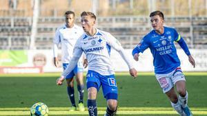 Bjarki Bjarkason i IFK-tröjan under provspelet i oktober. Bild: Christian Örnberg/Bildbyrån.