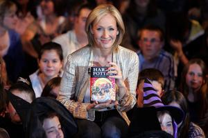 J K Rowling.Bild: AP Photo/Kirsty Wigglesworth