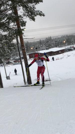 Alexander Danneskog, Sundsvall Biathlon spurtade hem en tredjeplats vid söndagens sprinttävlingar i Sveg.