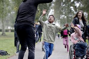 Skoljoggen gick av stapeln i Stadsparken i onsdags.
