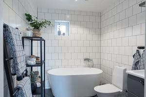 Huset har även badkar. Foto: Utsiktens foto.