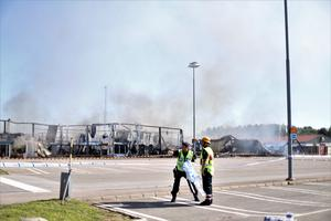 Polis och räddningstjänst har varit på plats sedan tidigt på onsdagsmorgonen.