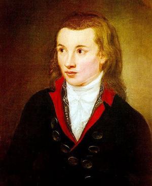 Novalis 1799. Målning av Franz Gareis.