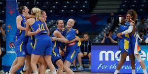 Sverige är klara för OS-kval i basket. Foto: Darko Vojinovic / TT