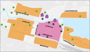 Foto: Sundsvalls kommunI det rosa området kommer avgifterna att höjas från och med måndag den 23 april.