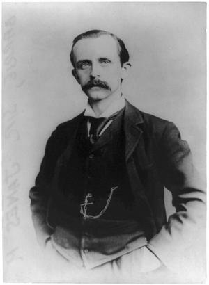 J. M. Barrie 35 år gammal 1895. Foto: George Grantham Bain