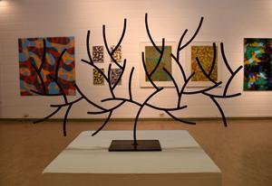 Ett träd inspirerat av Mondrian.