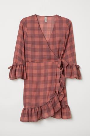 2. Mönstrad omlottklänning från H&M. 349 kronor.