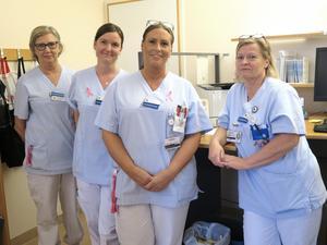 Sjuksköterskorna Hjördis Mattisson, Maria Bäckström, Jennifer Lundqvist och Åsa Christensen har sett till att förbättra telefontillgängligheten på reumatologen på Gävle sjukhus.