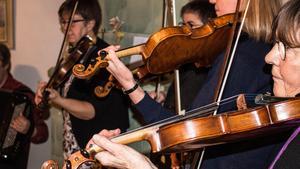 De flesta spelmännen hade fiolen som sitt huvudinstrument.