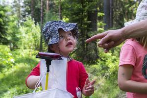 Alma Berglund blev exalterad över att hitta Diddi i skogen.