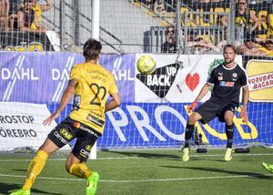 Victor Prodell sänkte ÖSK med sina två mål  i slutskedet av matchen.Foto: Conny Sillén / TT