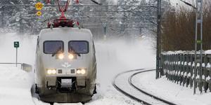 Ett fjärrtåg vid Järna station.