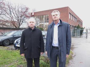 Magnus Lindberg, vd vid Gefleortens, och Patrik Hansson, Sverigechef vid Arla.