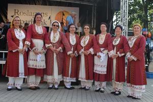 Det bjöds på traditionell dans från olika områden i Grekland. – Vi är både svenskar och greker som uppträder tillsammans. Dräkterna kommer från Cypern!