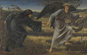 Edward Burne-Jones, Love and the Pilgrim, 1896-7. Olja på duk, 157,5 x 304,8 cm, ©Tate, London 2019