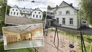 Nu finns den gamla skolan i Stjärnsund till salu för 830 000 kronor. Bilden är ett montage. Foto: Fastighetsbyrån Avesta