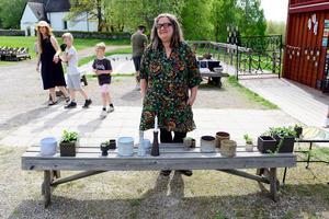 Mia Poletto Andersson hade inredningsdetaljer i keramik på Café Tunet.