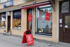 Stop Five Salong vid Stora torget.