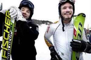 I slalom hänger det på små marginaler. Oscar Anderssom kom aldrig i mål och fick för andra dagen i rad se sig besegrad av klubbkamraten Magnus Andersson.