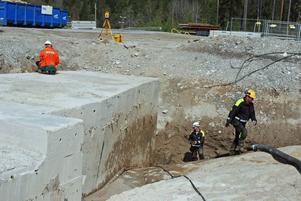 Bygget av Bolidens nya anrikningsverk i Garpenberg.Foto: Rolf Sundblad