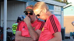 Anders Fröjd (till vänster) lagledare Lejonen.