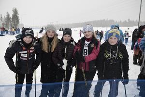 Ted Olsson, Tilde Tjärnås, Melina Loft Filippa Jonsson och Albin Lennartzon fanns på plats vid startfältet.