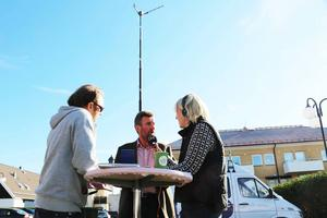 Olle Larsson, Härjedalspartiet, intervjuades i radions valdebatt i Sveg.