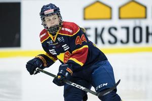 Rebecca Höglund när hon spelade i Djurgården och SDHL 2017. Foto: Andreas L Eriksson, Bildbyrån