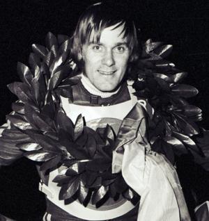Kurt Westlund efter en tävling på Skutskärs IP 1973. Foto: Tord Westlund.