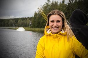 Melanie Staf som tog ett VM-brons i Mexiko förra året, deltog i SM-tävlingarna på lördagen.
